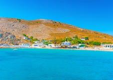 Na ilha de Pserimos em Grécia foto de stock