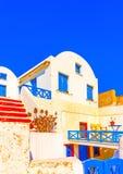 Na ilha de Santorini em Grécia Imagem de Stock Royalty Free