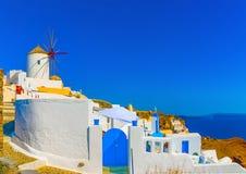 Na ilha de Santorini em Grécia Foto de Stock