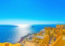 Na ilha de Santorini em Grécia Fotos de Stock Royalty Free