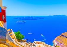 Na ilha de Santorini em Grécia Fotografia de Stock Royalty Free