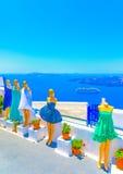 Na ilha de Santorini em Grécia Foto de Stock Royalty Free