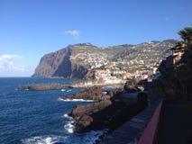 Na Ilha a Dinamarca Madeira da costela do shoreline/de Ilha a Dinamarca Madeira Imagem de Stock Royalty Free