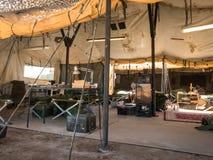 Na inside wojsko namiot fotografia royalty free
