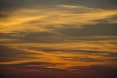 na jesieni oceanu sunset skuteczne żółty Zdjęcie Royalty Free