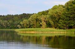 Na jeziornym Olecko Małym Zdjęcia Stock