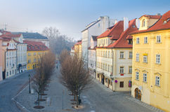 Na Kampe street on Kampa Island, Prague Royalty Free Stock Photo
