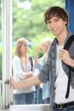 Na kampusie męski uczeń Zdjęcie Stock