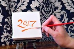 2017 na kanwie Zdjęcie Stock