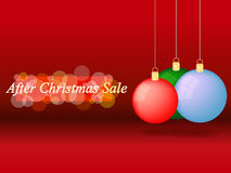 Na Kerstmisverkoop Stock Fotografie