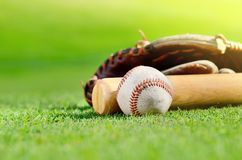 na kij baseballowy rękawica Obraz Stock