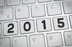 2015 na klawiaturze Zdjęcia Royalty Free