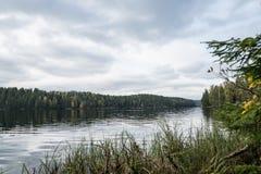 NA klevannnn湖在挪威 免版税库存照片