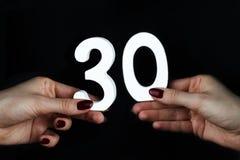 Na kobiet palm postaci trzydzieści zdjęcia royalty free