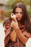 Na kobiety ręce henny sztuka Obrazy Royalty Free