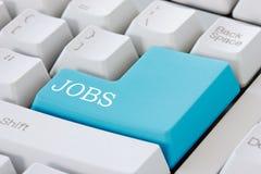 Na komputerowej klawiaturze praca guzik Zdjęcie Royalty Free