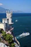na krymie gniazda s jaskółka Ukraine obraz royalty free