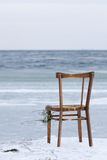 na ląd mył okładzinowy krzesło ocean Fotografia Stock