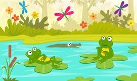 Na lagoa Fotografia de Stock