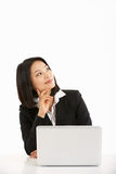 Na Lapto Bizneswomanu chiński Działanie Fotografia Stock