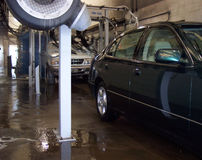 Na lavagem de carro Imagens de Stock
