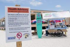 na ląd plażowi nafciani Pensacola obmycia Obrazy Stock