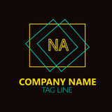NA Letter Logo Design. Royalty Free Stock Photography