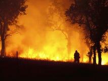 Na linha de incêndio imagem de stock