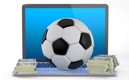 Na linha futebol que aposta o conceito Foto de Stock Royalty Free