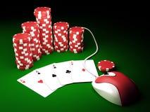 Na linha póquer Fotografia de Stock Royalty Free