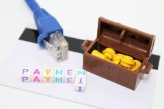 Na linha pagamento Imagens de Stock