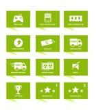 Na linia sklepu ikonie z zielonym kolorem Zdjęcie Stock