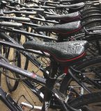 Na loja da bicicleta em New York City após a chuva Imagem de Stock