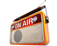 Na lotniczym radiu royalty ilustracja