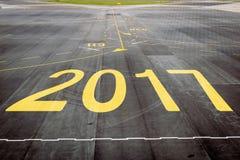 2017 na lotniskowym pasie startowym Zdjęcia Royalty Free