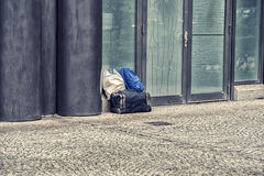 Na lotnisku przegrany bagaż Fotografia Royalty Free