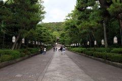 Na maneira a um templo japonês em Kyoto, Japão foto de stock royalty free