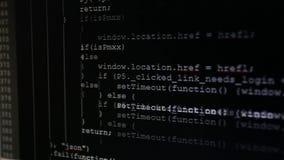 Na monitoru inicjale kody wchodzić do Źródło kod tekst program komputerowy zbiory