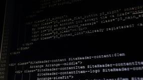 Na monitoru inicjale kody wchodzić do Źródło kod tekst program komputerowy zbiory wideo