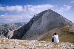 Na montanha alta foto de stock