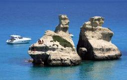 Na morzu biały skały Zdjęcie Stock