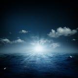 Na morzu fantastyczny wieczór Zdjęcia Royalty Free