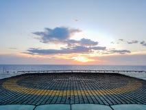 Na morzu helideck Zdjęcie Royalty Free
