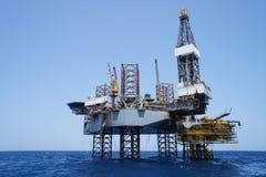 Na morzu Jack Na morzu Takielunek i Produkci Platformę Zdjęcia Royalty Free
