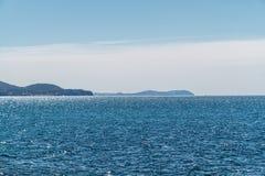 Na morzu. Naturalny tło Obrazy Royalty Free