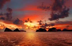 Na morzu piękny spadek Zdjęcie Stock