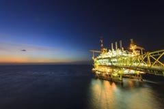 Na morzu platforma Obrazy Stock