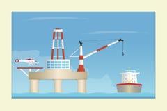 Na morzu platforma ilustracji