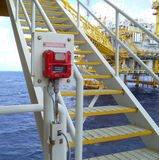 Na morzu przemysł ropa i gaz Zdjęcie Royalty Free