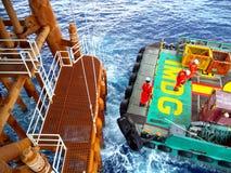 Na morzu przemysł ropa i gaz Obrazy Stock